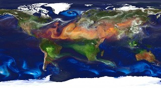 portrait of Earth's dirty atmosphere
