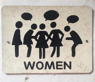 womens bathroom sign in vietnam