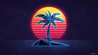 retro palm tree