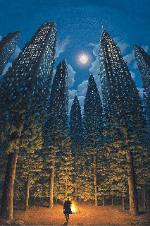 city forest drawing