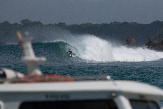 bali surf boat view