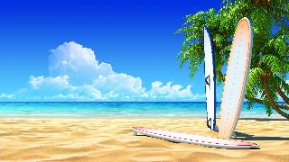 Surf pixel Beach Wallpaper