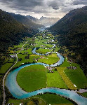 Norway valley river
