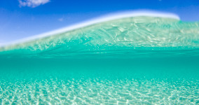 surf clear blue wallpaper