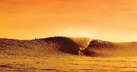 surf sunset break wallpaper