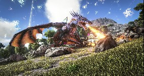 ark survival evolved dragon wallpaper neutek