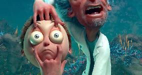 Rick Morty pixar 3d fanart