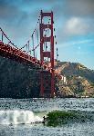 San Francisco golden gate surf