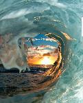 surf inside barrel