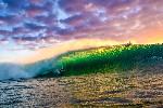 Derrick ho pipeline surf sunset