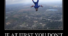 skydive try again next time